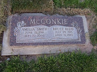 Bruce R. McConkie - Grave marker of Bruce R. McConkie.