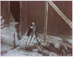 Liberated Buchenwald survivor