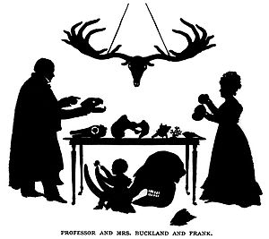 Francis Trevelyan Buckland - Buckland family silhouette with Frank under the table