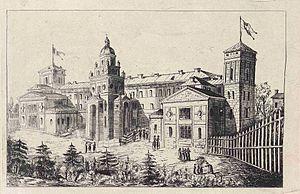 Mărgărita Miller-Verghy - View of the Elena Doamna Asylum and High School, ca. 1882