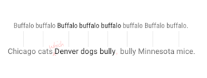 Buffalo buffalo Buffalo buffalo buffalo buffalo Buffalo buffalo - Diagram using a comparison to explain the buffalo sentence.