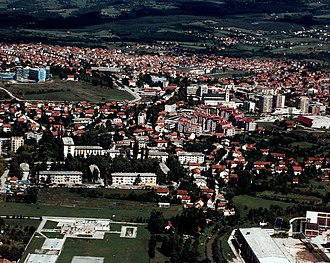 Battle of Bugojno - The town of Bugojno in 1996