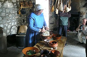 Pudding cloth - Preparation of a pudding with a pudding cloth