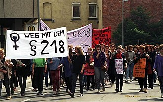 Strafgesetzbuch - Demonstration against an earlier version of § 218 in Göttingen, 1988