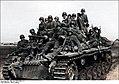 Bundesarchiv Bild 101I-269-0240-11A, Russland, Panzer mit aufgesesssener Infanterie Recolored.jpg