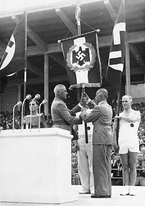 Hans von Tschammer und Osten - Hans von Tschammer und Osten and Wilhelm Frick at the Deutsches Turn- und Sportfest in 1938.