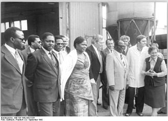 People's Republic of the Congo - A PRC delegation during an official visit to East Germany (1982).