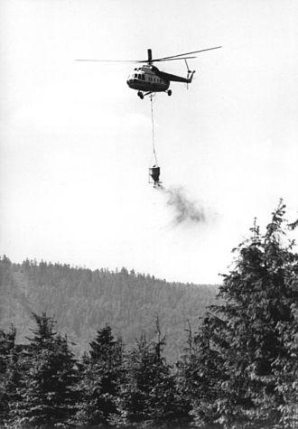 Aerial application - A Mil Mi-8 spreading fertilizer