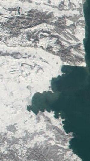 Gulf of Burgas - Satellite view of the Burgas Bay