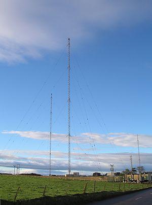 Burghead Transmitting Station - Image: Burghead masts