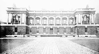Burlington House - Photograph of the original main block of Burlington House, before the addition of the top storey