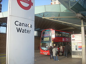Bus 381 at Canada Water bus station, London.jpg