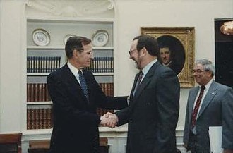 Don Young - Young greeting President George H. W. Bush in 1991