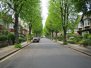Bush Hill Park area in the London Borough of Enfield