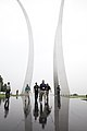 Business leaders from around the United States tour the U.S. Air Force Memorial in Arlington, Va., during a tour of sites in the National Capital Region as part of a Marine Corps Executive Forum (MCEF) on 130711-M-MI461-052.jpg