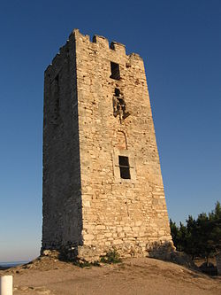 Byzantine tower at Nea Fokea.jpg