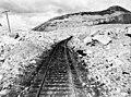C.P. Railway showing landslide, Frank, Alta.jpg