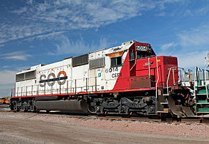 EMD SD60 - Ex-SOO SD60 no. 6014, now owned by Cit (CEFX), at Lincoln, Nebraska in October 2014.