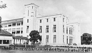 Koninklijke Paketvaart-Maatschappij - The headquarter of KPM in Koningsplein, Batavia. The building is now the headquarter of the Indonesian Ministry of Transportation.