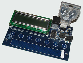 PSoC - PSoC 1 capacitive sensing development board with MiniProg programmer / debugger