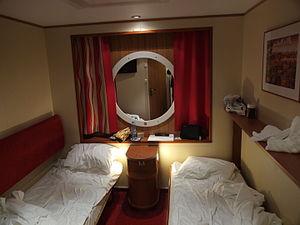 MS Baltic Queen - A cabin aboard MS Baltic Queen.