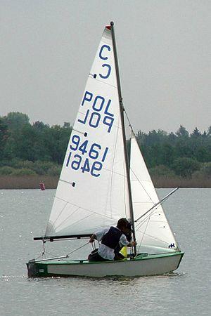Cadet (dinghy) - A Cadet class dinghy POL 8457