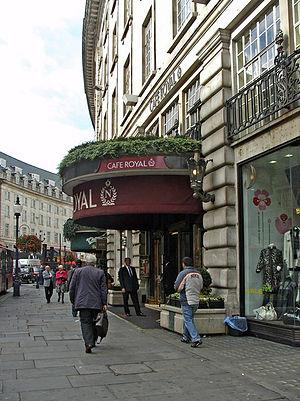 Hotel Café Royal - South side of entrance, 2008