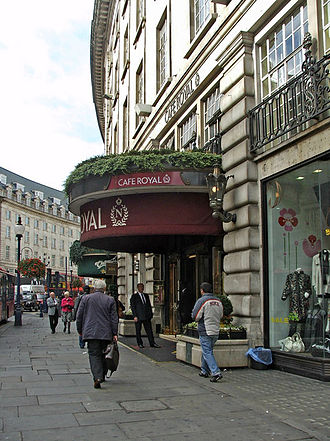 Hotel Café Royal - South side of entrance, 2008