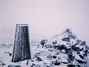 Ben Vorlich, Loch Lomond - A cairn and a collumn on top of Ben Vorlich