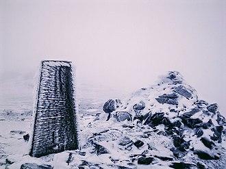 Ben Vorlich, Loch Lomond - A cairn and a column on top of Ben Vorlich