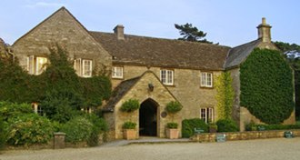 Calcot Manor - Main entrance of the 16th-century Calcot Manor House