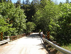 Bridge over Los Gatos Creek, Wrights Station Road, May 2008
