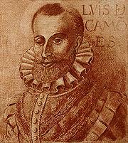 Luís de Camões, considerado uma das maiores figuras da literatura em língua portuguesa