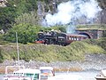 Cambrian Coast Express emerging from tunnel, Barmouth - geograph.org.uk - 1580962.jpg