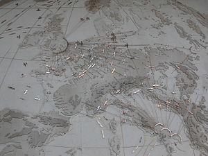 Cambridge American Cemetery and Memorial - Image: Cambridge American Cemetery and Memorial the Great Map