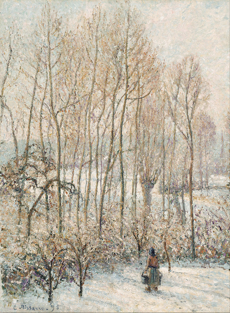 File:Camille Pissarro - Morning Sunlight on the Snow, Eragny-sur ...