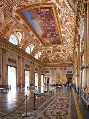 Royal Palace of Caserta - The throne room.