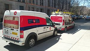 Canada Post - Canada Post Ford Transit Connect in St. Mary Street, Toronto