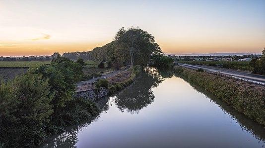 Le Canal du Midi depuis le Pont de Caylus