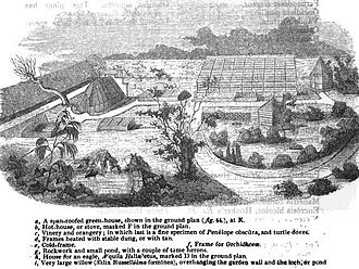 Patrick Neill (naturalist) - View of Canonmills Cottage Garden, near Edinburgh, from Gardener's Magazine, July 1836.