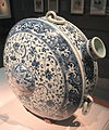 Canteen, China, Jiangxi Province, 15th century, porcelain with cobalt under colorless glaze - Freer Gallery of Art - DSC05405.JPG