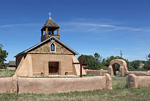 National Register of Historic Places listings in Costilla County, Colorado - Image: Capilla de Viejo San Acacio