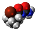 Carbromal molecule spacefill.png