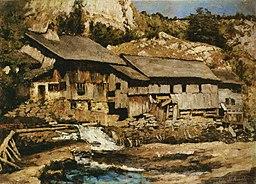 Carl Schuch - Mühle bei Saut du Doubs
