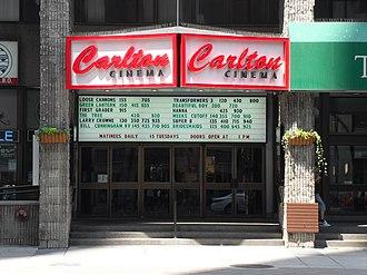 Carlton Cinema (Toronto) - The Carlton Cinema in Toronto