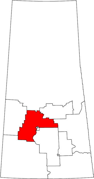 Carlton Trail—Eagle Creek - Carlton Trail—Eagle Creek in relation to other Saskatchewan federal electoral districts as of the 2013 Representation Order.
