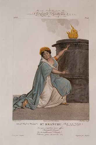 Alexandrine-Caroline Branchu - Caroline Branchu in the rôle of Julie in La Vestale by Gaspare Spontini, 1807.