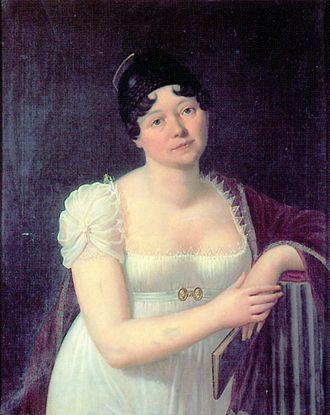 Caroline von Wolzogen - Caroline von Wolzogen in a portrait by Carl von Ambère, 1808