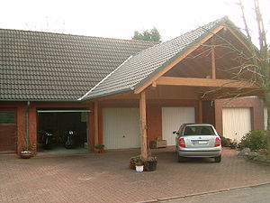 Carport - Carport in front of garages