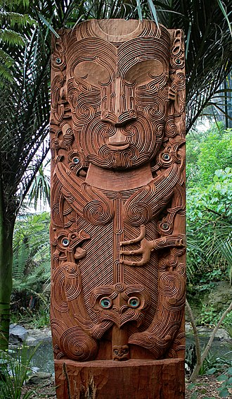 Tāne - Carving of Tāne nui a Rangi